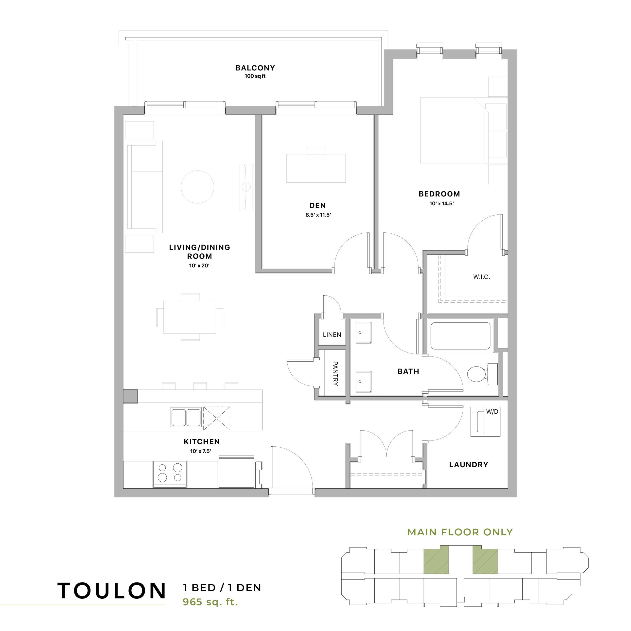 Toulon Floorplan