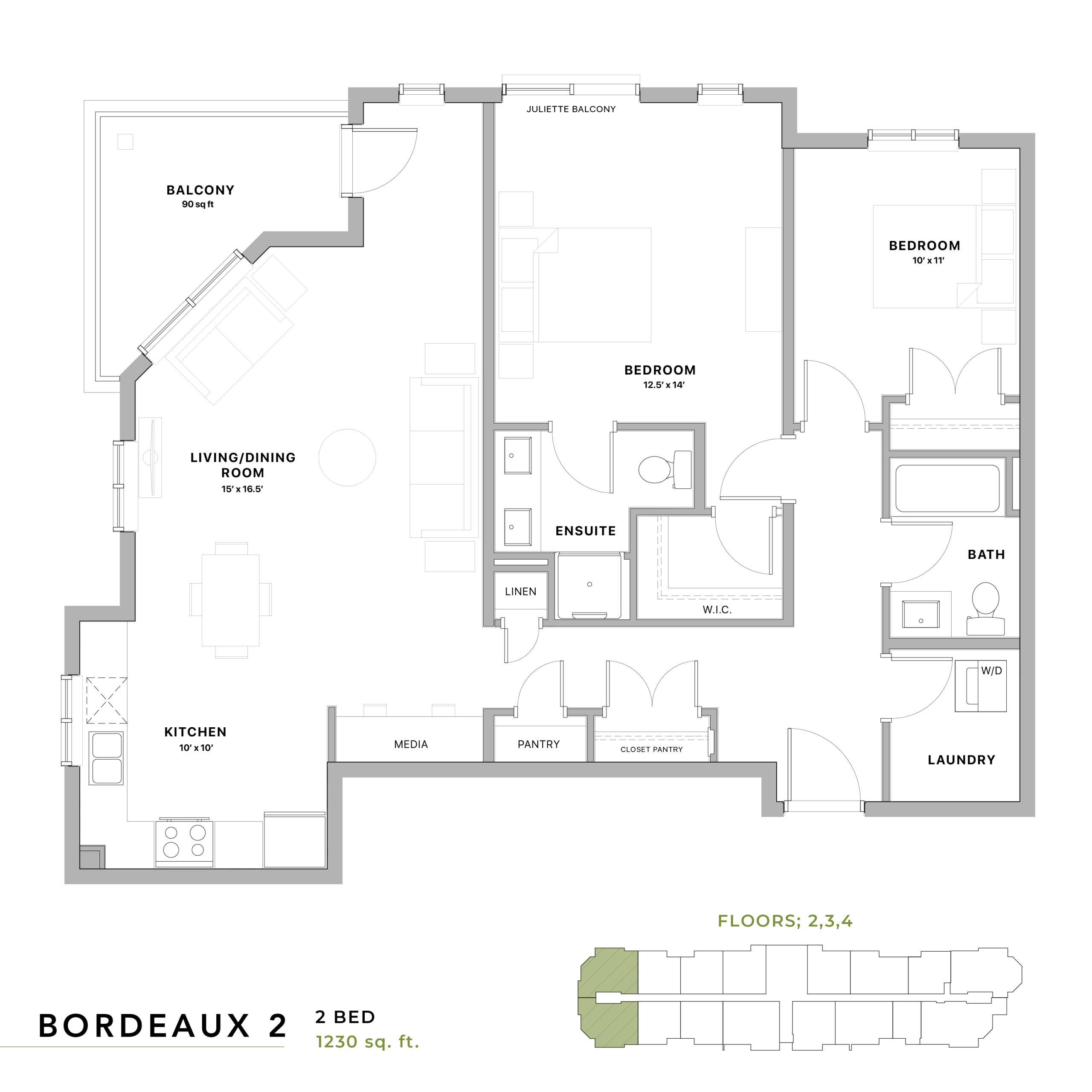 Bordeaux 2 Floorplan