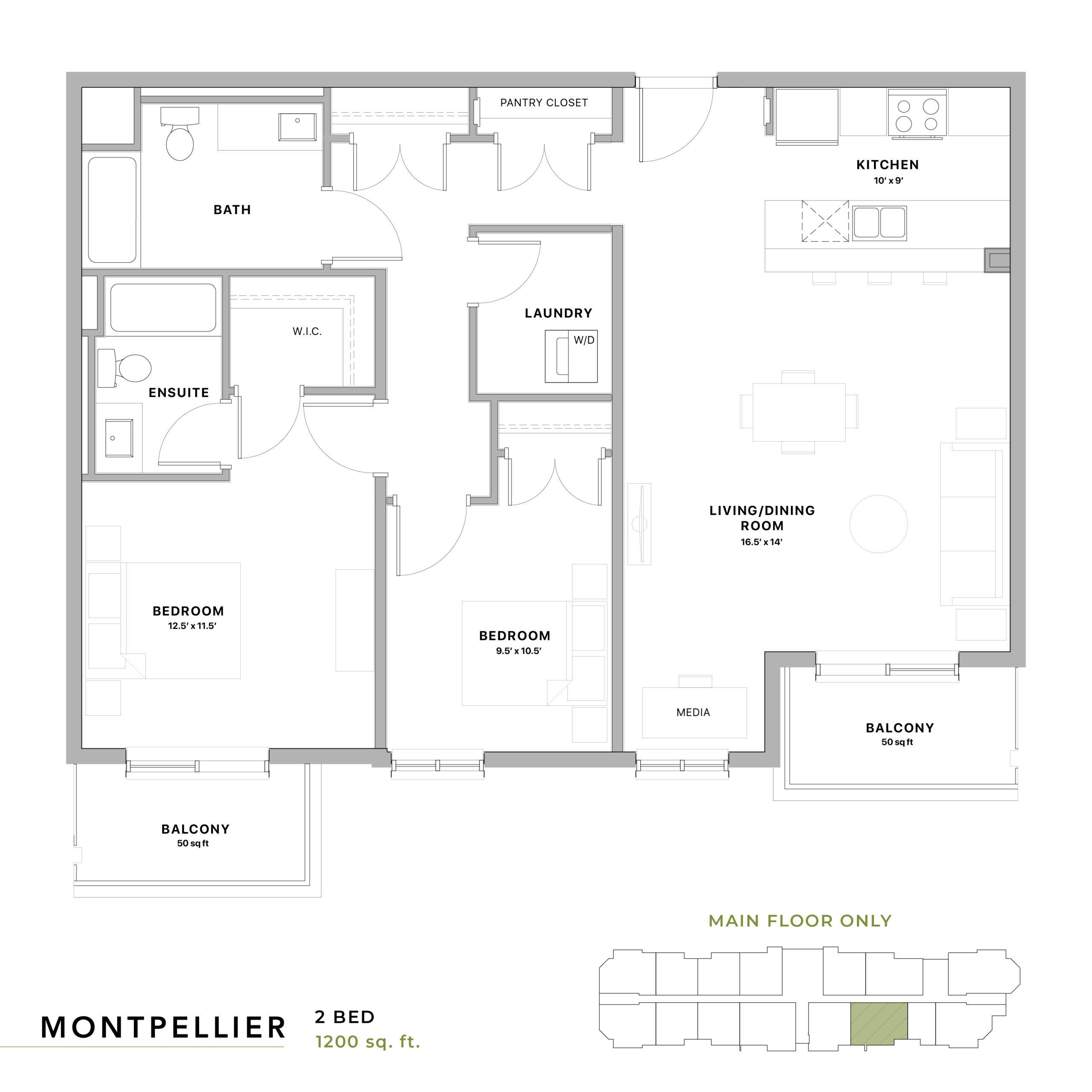 Montpellier Floorplan