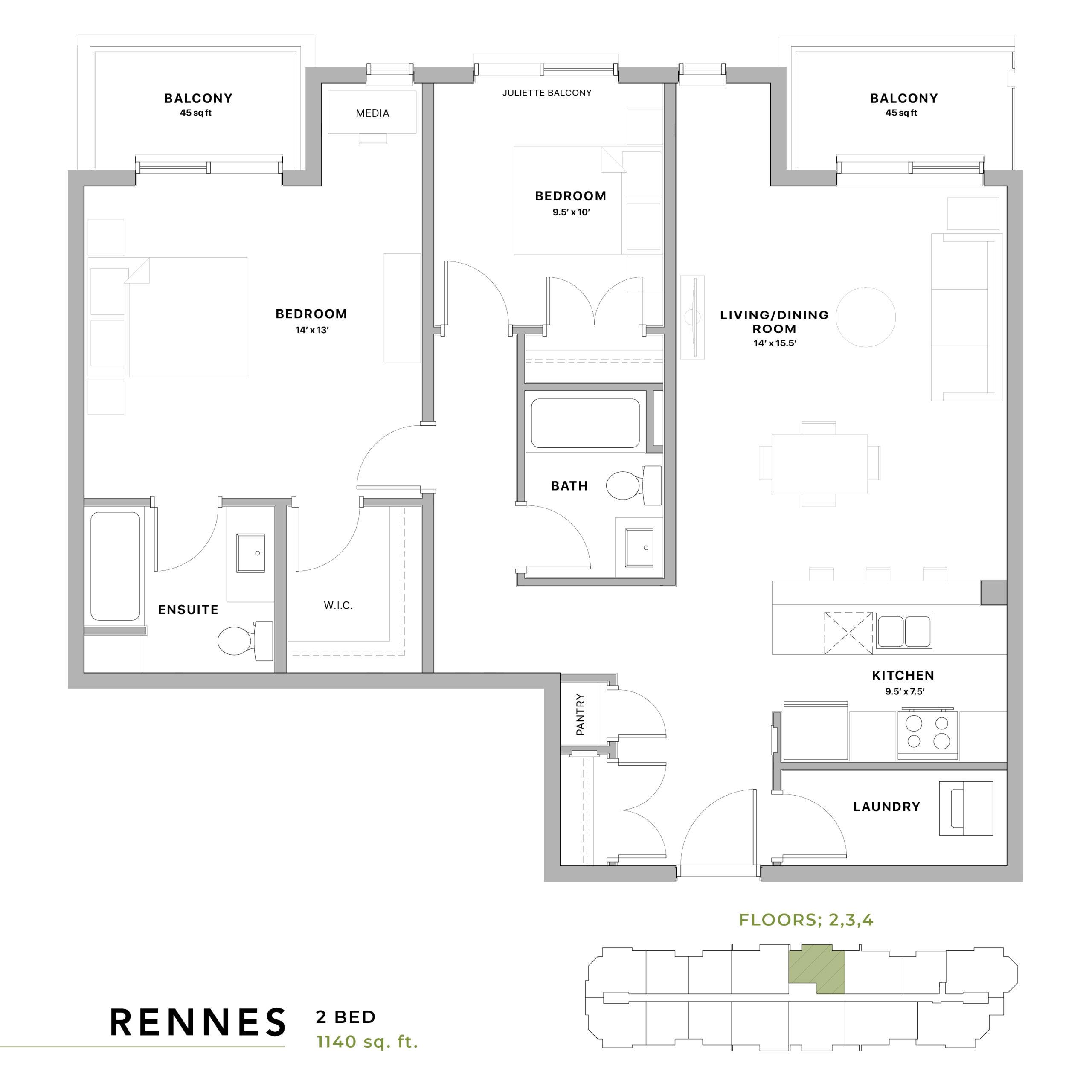 Rennes Floorplan