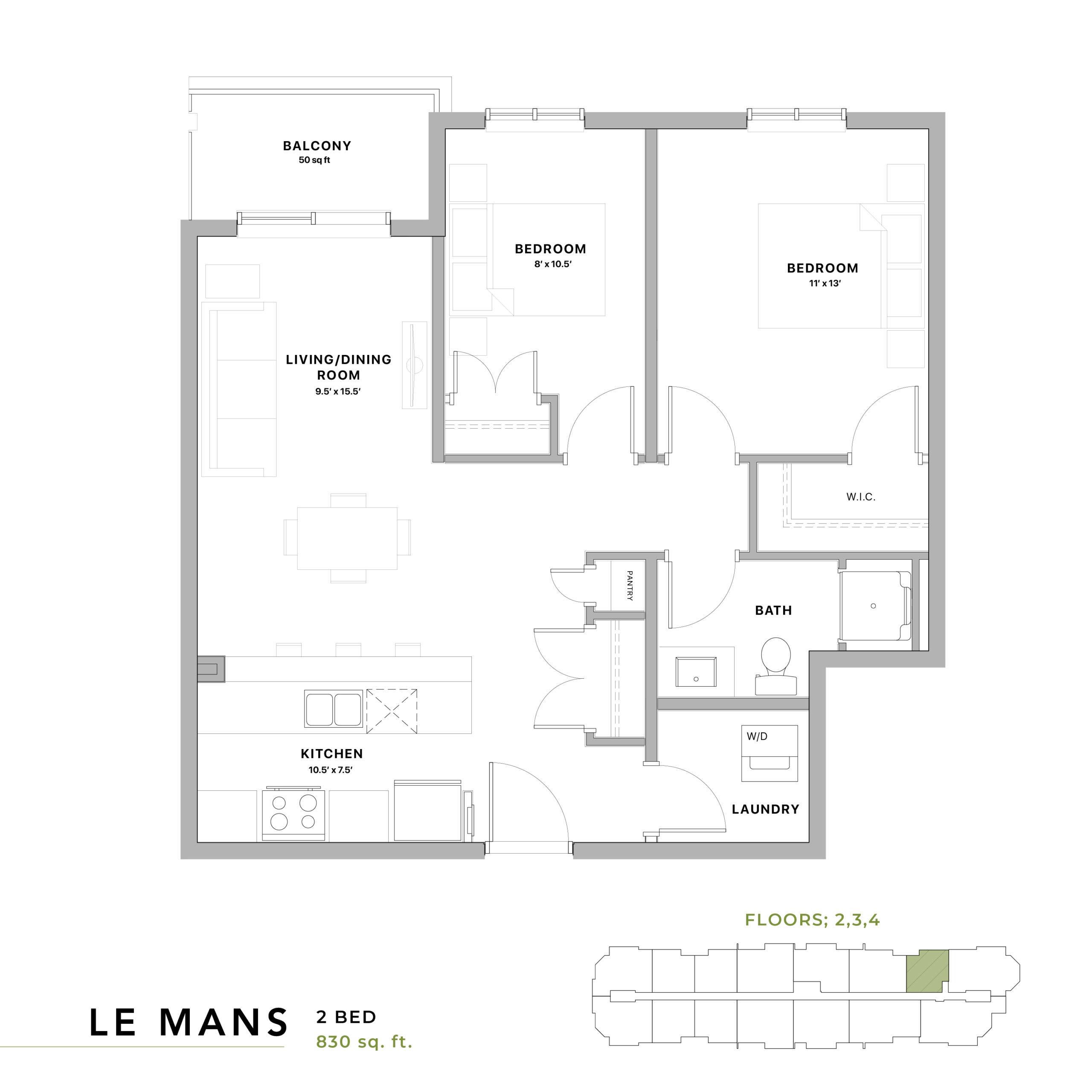 Le Mans Floorplan