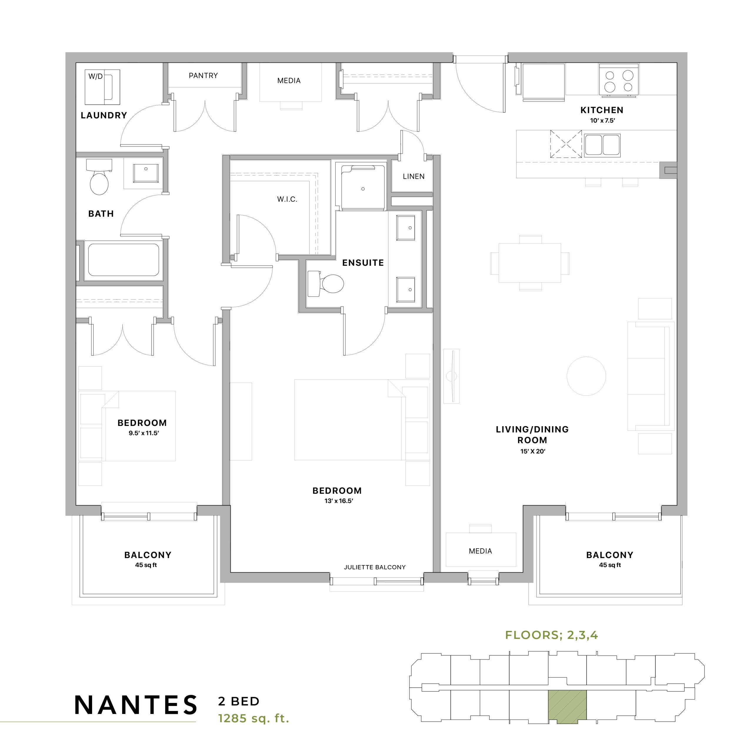 Nantes Floorplan