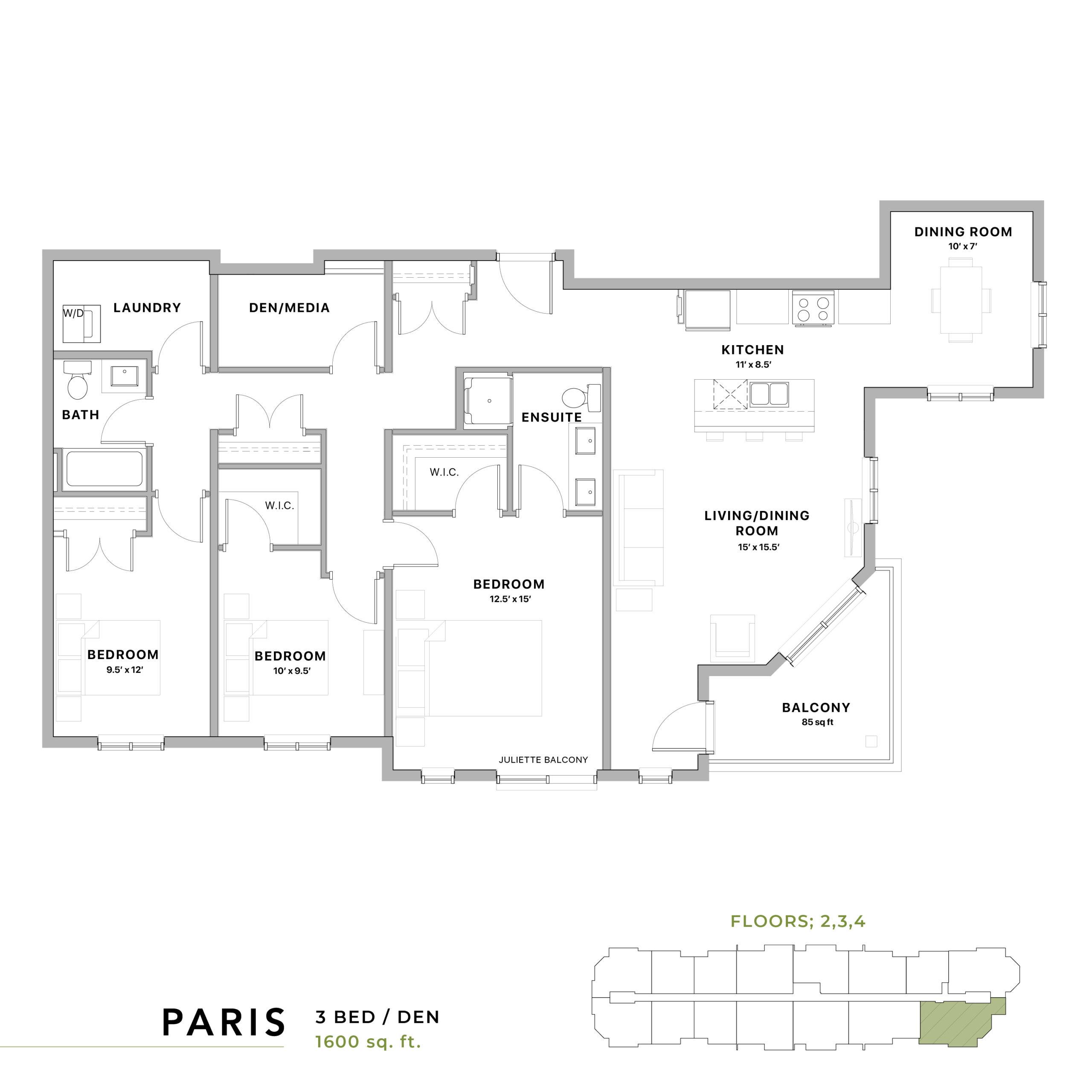 Paris Floorplan